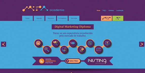 Site Academia Marketing Tecnológico
